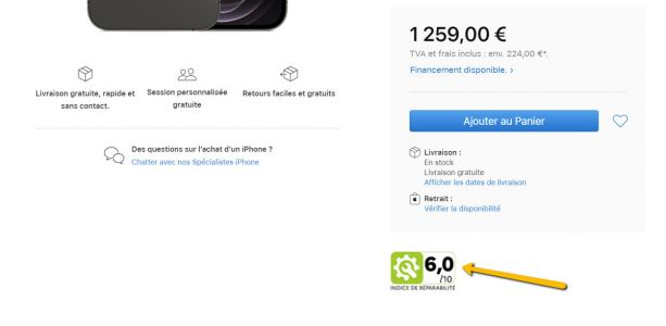 Apple Store In France Now Shows iPhone And Mac Repairability Scores