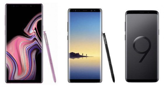 Samsung Galaxy Note 9 vs Galaxy Note 8 vs Galaxy S9+:  qu'est-ce qui change ?