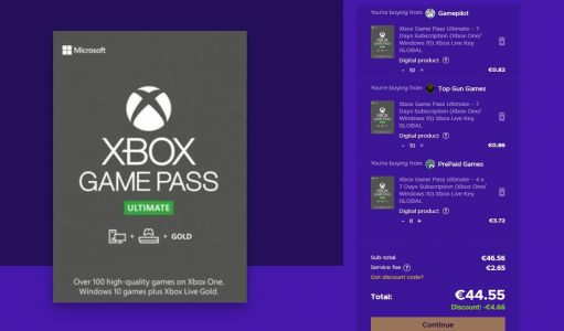 Abonnement Xbox Game Pass Ultimate 1 an pour 45 € !