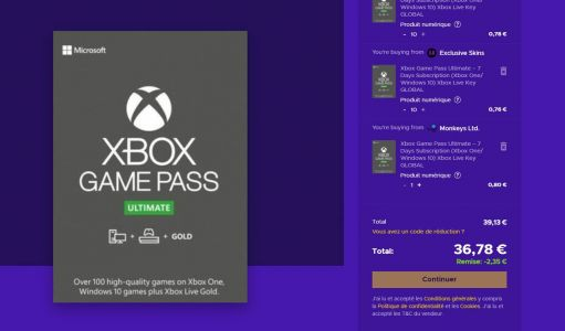 Abonnement Xbox Game Pass Ultimate 1 an pour 37 € !