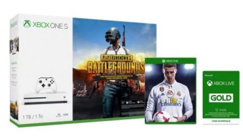 Xbox:  Une offre imbattable Xbox One S 1To + PUBG + FIFA 18 + 1 an de Xbox Live