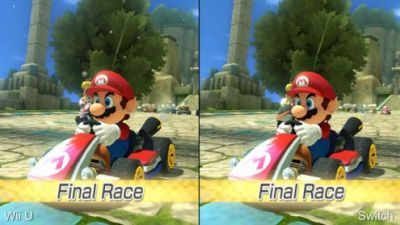 Mario Kart 8 Deluxe:  Switch vs Wii U, le face à face technique en vidéo