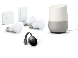 Black Friday:  le pack Google Home avec Chromecast et 3 ampoules Philips HUE est à 199€ au lieu de 287€