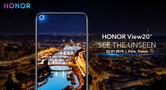 Honor View 20:  écran full borderless, Kirin 980 et capteur photo de 48 millions de pixels