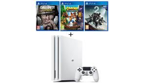 Black Friday - PS4 Pro blanche 1 To + 3 jeux à 390 €