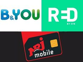 Forfaits mobile à 10€:  RED by SFR, Bouygues Tel ou NRJ Mobile, lequel choisir ?