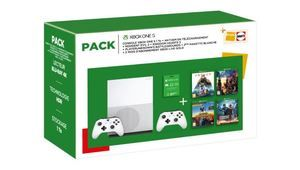 Bon plan - Xbox One S 1 To + 2e pad + 5 jeux + e-carte de 50 € : 300 €