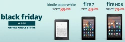 Kindle Paperwhite, Fire 7 et Fire HD 8 en réduction sur Amazon !