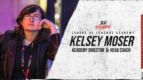 League of Legends:  Kelsey Moser devient head coach de l'équipe académie 100 Thieves