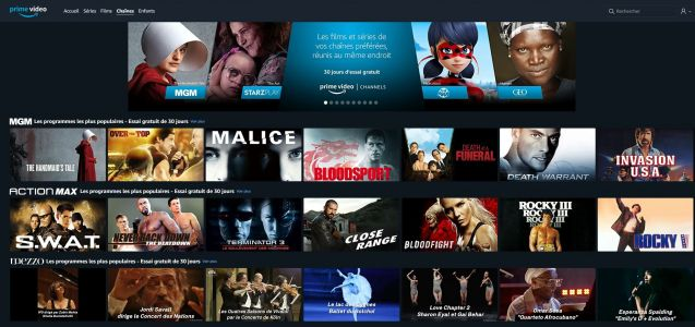 Actualité:  Amazon lance Prime Video Channels en France