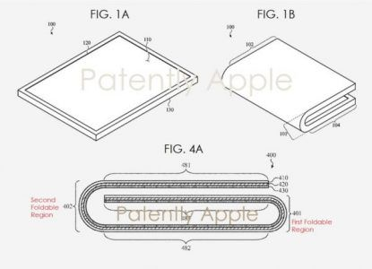 Apple dépose un brevet relatif à un iPad pliable