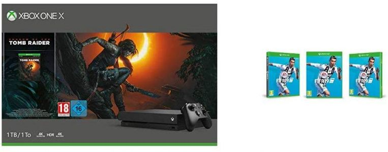 Pack Xbox One X + Shadow of The Tomb Raider + Fifa 19 à 449€