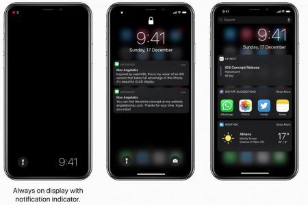 IPhone X:  cet internaute propose un concept de Dark Mode