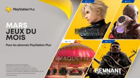 PlayStation Plus:  Final Fantasy VII vous sera offert en mars !