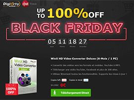 Black Friday:  500 licences WinX HD Video Converter offertes