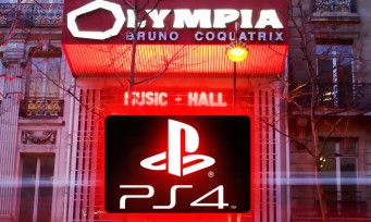 PlayStation:  il sera bientôt possible de jouer à la PS4. à l'Olympia de Paris !