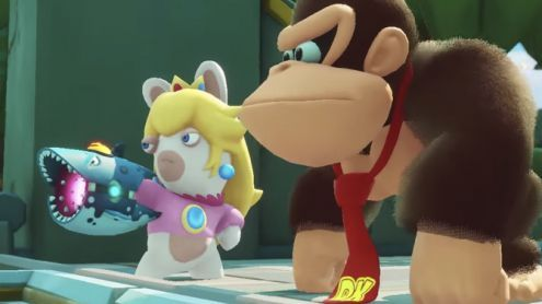 Un trailer pour l'extension Donkey Kong Adventure de Mario + Lapins Crétins sur Switch