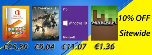 Des promotions sur Windows10 Pro à 11€, Microsoft office 2016 Pro à 25€ ou encore Titanfall 2 PC à 9€