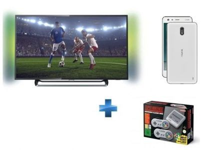 Bon plan:  TV LED 4K Philips + Super Nintendo Classic Mini + Nokia 2 à moins de 550 euros !