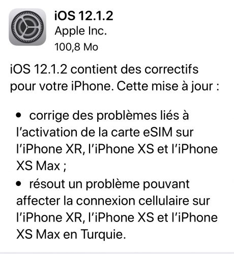 IOS 12.1.2 disponible
