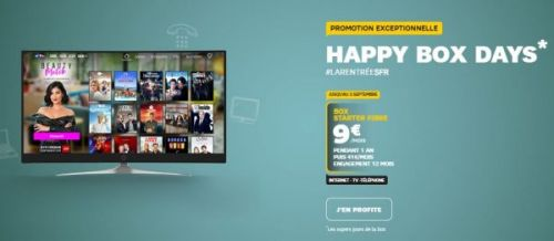 Happy Box Days:  SFR affiche ses box Starter ADSL et fibre à 5 et 9 euros !