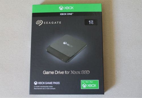 Test - Disque dur Seagate SSD 1To pour Xbox One