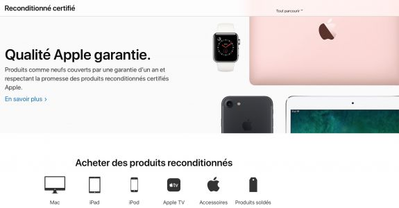 Apple revoit le look de son Refurb Store