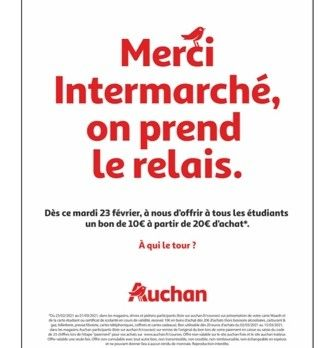 """ Merci Intermarché, on prend le relais """